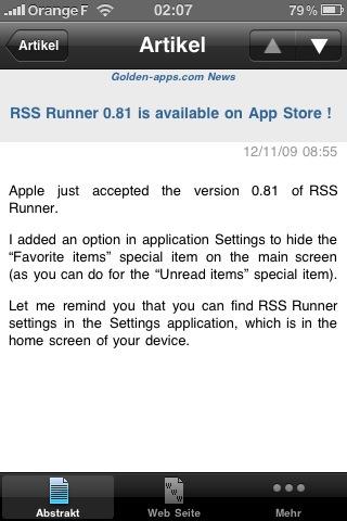 RSS Runner